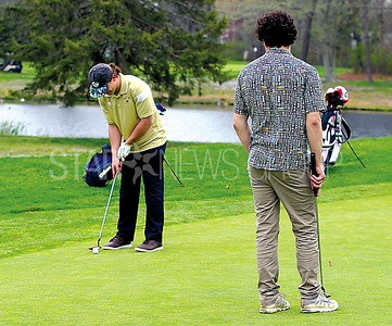 Boro Golf 04/27/2017 from L to R: Nathan Chiarello age 17 from Point, John McTaggart age 17 from Point