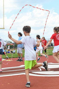 Second graders participate in a jump rope contest at Antrim Elementary's Field Day on June 6, 2019. [ALYSSA RASP   THE OCEAN STAR]