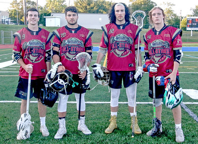 [L-R]: Cormac McCabe, Tyler Sindel, Thomas Swartwout, Justin Innarone 2019 All-Star Lacrosse game in Toms River, NJ on 6/14/19. [DANIELLA HEMINGHAUS | STAR NEWS GROUP]