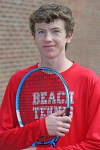 Jack Foley of the Point Pleasant beach High School boys tennis team (MARK R. SULLIVAN/THE OCEAN STAR)