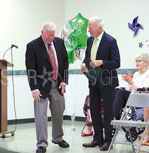 Brick Principal Ceremony 6/9/2017: Mayor Ducey, Ron Gerlufsen