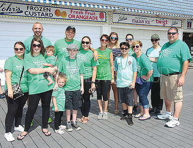 "Point Pleasant Beach Cystic Fibrosis Walk 06/10/2017: ""Anthony's Answer"" from Old Bridge walking for Anthony Silvestri age 12 (The boy in the hat)"
