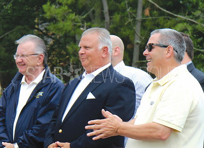 BH boro hall grand opening celebration 6/17/2017 from L to R: Mayor Bob A. Sabosik, Mayor Stephen D. Reid, Bob Santanello