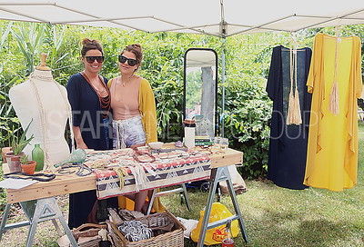 BH Art in the Park. artist and owner of Sirena and the Sea Laurie DiBiagio ( LEFT) with friend and helper Ashley Fernicola (RIGHT) selling her handmade jewelry and kimonos found on sirenaandthesea.com