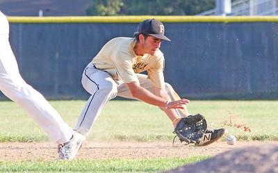 no.28, Connor Kennedy  Point Pleasant Boro v/s Brick Township baseball in Point Pleasant Boro, NJ on 7/12/19. [DANIELLA HEMINGHAUS]