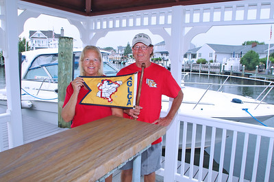 Thomas and Patricia Trunkwalter, of Point Pleasant Boro, received their BaccaLOOPerate degree from America's Great Loop Cruisers' Association (AGLCA). (MARK R. SULLiVAN/ THE OCEAN STAR)