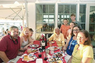 mantoloking town wide dinner// Grand Marshal Connie Pilling with her family