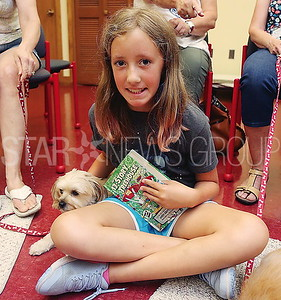 BORO Read to the Dogs  // Addie Reilly 9 of Pt Pleasant reading to Molly
