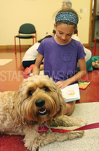 BORO Read to the Dogs  // Ivy Slavinski 9 Pt Pleasant reading to Harbor