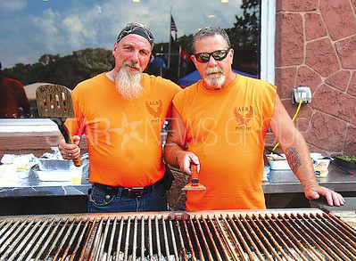 Brick Rib Cook Off from L to R: Michael White, Joe Ryan all of Brick