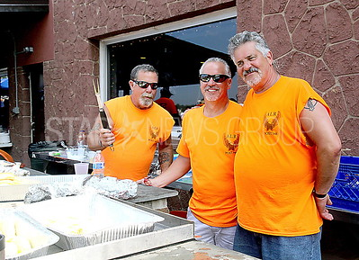 Brick Rib Cook Off from L to R: Hank Voss, Gary Kumo, Joe Ryan all of Brick
