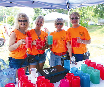 Brick Rib Cook Off from L to R: Lisa Mancini, Valerie Hall, Glenda Jantz, Carolyn Steranka all of Brick