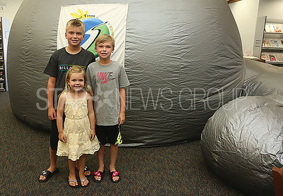 BORO Planetarium//the Kowalewski family Nicholas 10. Ryan 8. and Emma 4 of Pt Pleasant