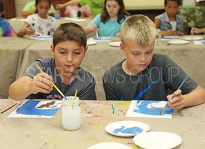 boro paint party// Nicholas Albanese 10 and Nicholas Kowalewski 10 both of  Pt Pleasant