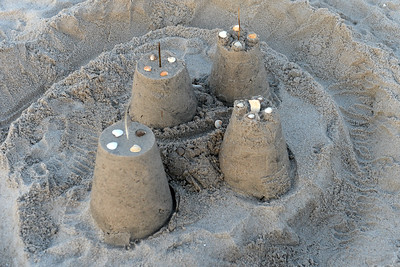 A sand castle creation on the beach at the Kites and Castles event, in Lavallette, NJ on 08/01/2019. (STEVE WEXLER/THE OCEAN STAR).