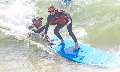 [ on right] Ethan Buge, from Dallas TX, with James Enze, from lavallette. Waves of Impact day 1 in Lavallette, NJ on 8/1/19. [DANIELLA HEMINGHAUS]