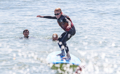Ethan Buge, from Dallas TX, Waves of Impact day 1 in Lavallette, NJ on 8/1/19. [DANIELLA HEMINGHAUS]