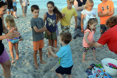 Kites and Castles event on the beach, in Lavallette, NJ on 08/01/2019. (STEVE WEXLER/THE OCEAN/STAR).