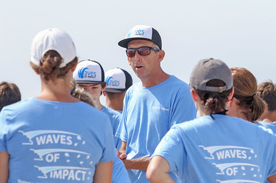 [in center] Keith Lovgren  Waves of Impact day 1 in Lavallette, NJ on 8/1/19. [DANIELLA HEMINGHAUS]