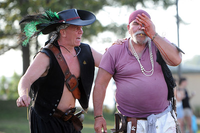 Valhalla's Pirates at their stage show at Riverfront Park, in Point Pleasant Boro, NJ on 08/02/2019. (STEVE WEXLER/THE OCEAN STAR).