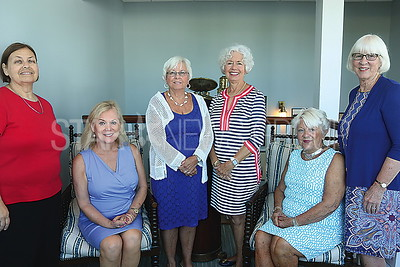 BH All Saints Lunch/// L to R: COMMITTEE ..Phyliss Kata. Co chair Susan Scherler. Chris Kyse. Sudy Mayo. Priscilla Hiby Co Chair. and Lois Eberhart