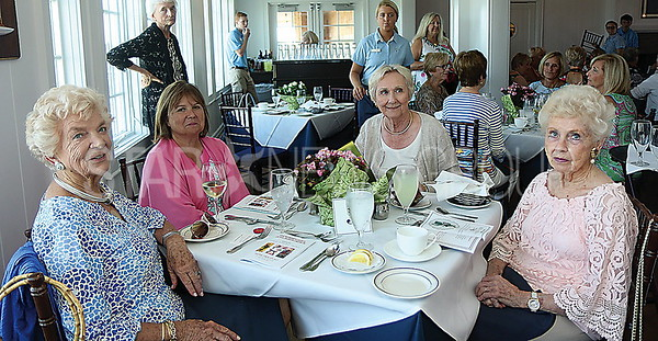 BH All Saints Lunch/// L to R: Evie Claffey Bay Head. Jane Ridolfi Bay Head, Joanne Walther Robertsville and Jean O'Donnell Lawrenceville