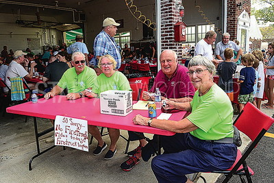 l-r: fred and sharon applegate, bob ryan and janet sutphen all of bay head volunteering at the event