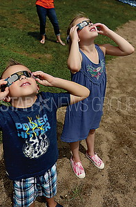 BRICK GirlScout eclipse viewing // Brooks and Emma Ryba 5 and 7 of Burlington NJ