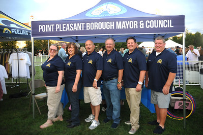 Point Pleasant Boro, NJ Mayor and Council seen at the Centennial Kickoff Celebration, in Point Pleasant Boro, NJ on 08/23/2019. (STEVE WEXLER/THE OCEAN STAR).