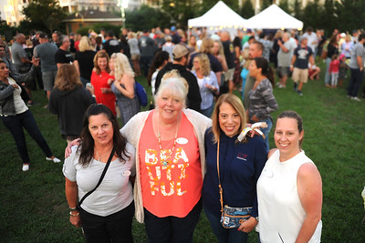 Point Pleasant Boro, NJ Chamber of Commerce members, Maria Caputo, Patty Williams, Charlene Archer, and Jessica Elz seen working the Beer Garden Booth at the centennial KIckoff Celebration, held in Point Pleasant Boro, NJ on 08/23/2019. (STEVE WEXLER/THE OCEAN STAR).