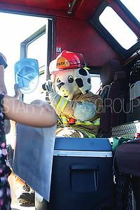 BORO Fire Prevention fireman Nick Vogel as Sparky