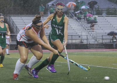 no.14, Alyssa Carlucci going after the ball. Brick Township field hockey v/s Middletown North in Middletown, NJ on 10/11/18. [DANIELLA HEMINGHAUS | THE OCEAN STAR]