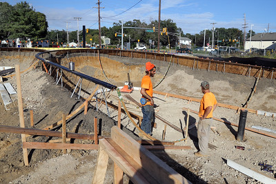 Work continues on the Bernard J. Cooke skateboard park in Brick Township on Wednesday October 10, 2018. (MARK R. SULLIVAN /THE OCEAN STAR)
