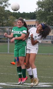 no.9, Danielle Christ Brick Township High School girls soccer v/s Colt Neck in Brick,NJ on 10/16/18. [DANIELLA HEMINGHAUS | THE OCEAN STAR]