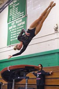 Point Pleasant Borough High School takes on Brick Township High School in a varsity girls gymnastics meet held at Brick Township High School on Monday October 15, 2018 (MARK R. SULLIVAN /THE OCEAN STAR)
