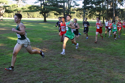 Racers take part in the Boys Varsity section of the 2018  Ocean County XC Championships were held at Ocean County Park in Lakewood on Thursday October 18, 2018. (MARK R. SULLIVAN/THE OCEAN STAR)