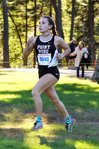 Point Pleasant Borough's Molly Kate Sabia runs during the 2018  Ocean County XC Championships were held at Ocean County Park in Lakewood on Thursday October 18, 2018. (MARK R. SULLIVAN/THE OCEAN STAR)