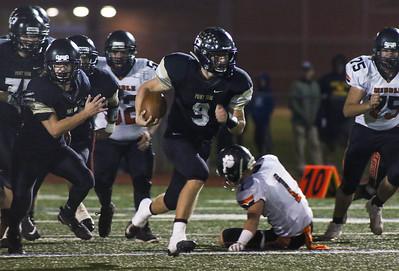 no.9, Garrett Romer running towards goal. Point Pleasant Boro High School v/s Middle Township in Point Pleasant Boro, NJ on 11/1/18. [DANIELLA HEMINGHAUS | THE OCEAN STAR]