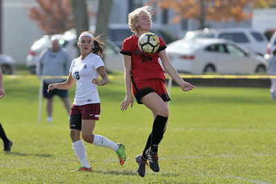 South River High School headed down to the Shore to take on Point Pleasant Beach High School in the 2nd round of the NJSIAA Girls Soccer Tournament held in Point Pleasant Beach on Thursday November 1, 2018. (MARK R. SULLIVAN/THE OCEAN STAR)