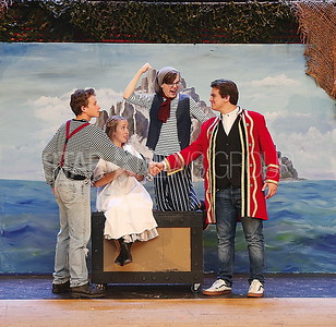 BORO Play Practice// Ryan Jasaitis ( Boy/ Peter) Emily Strasshein (Molly) Matt Wells ( Smee) and Donovan Lee (Black Stache)