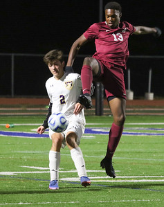 no.2, Joey Blaes St. Rose High Scholl boys soccer v/s Trinity Hall in Holmdel,NJ on 11/8/18. [DANIELLA HEMINGHAUS | THE COAST STAR]