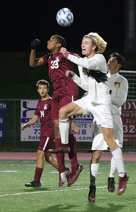 Christian Bodine St. Rose High Scholl boys soccer v/s Trinity Hall in Holmdel,NJ on 11/8/18. [DANIELLA HEMINGHAUS | THE COAST STAR]