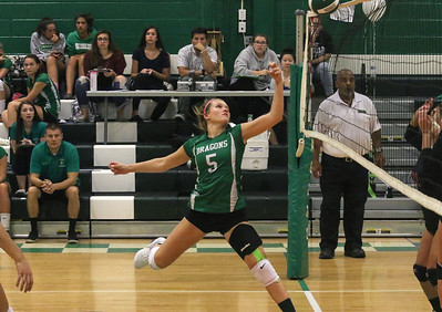 Skylar Rizzo Brick Township High School girls volleyball v/s Jackson Memorial in Brick,NJ on 10/4/18. [DANIELLA HEMINGHAUS | THE OCEAN STAR]