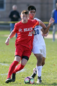Point Pleasant Beach High School hosted Middlesex High School first round of the NJSIAA Central Jersey Group I State Boys Soccer Tournament held in Point pleasant beach on Monday October 29, 2018. (MARK R. SULLIVAN/THE OCEAN STAR)