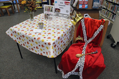 The Upper Shores Library in Lavallette hosted their annual Cheesecake Challenge , opening the competition and sampling to the public in an effort to crow this year's Cheesecake King or Queen on Friday November 16, 2018. (MARK R. SULLIVAN/THE OCEAN STAR)