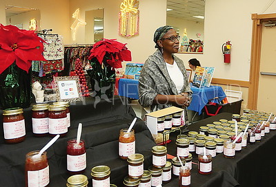 brick jsac vendor craft fair:  Barbara Pearson of Barbaras Kitchen South Plainfield nj selling Jams