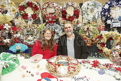 brick jsac vendor craft fair:  Christine and Jim Adametz of Farmingdale // Wreath Decor and More