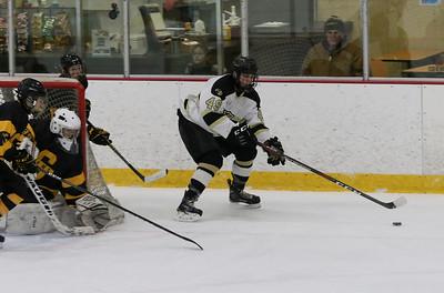 no. 49, Aiden Zielaznicki on goal. Point Pleasant Boro v/s Southern Regional high school hockey in Brick, NJ on11/30/18. [DANIELLA HEMINGHAUS | THE OCEAN STAR]