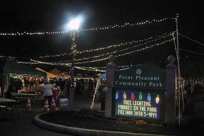 Point Pleasant  Borough held their annual Holiday Tree Lighting and Market in the Park at Point Pleasant Community Park on Friday November 30,2018 (MARK R. SULLIVAN/THE OCEAN STAR)