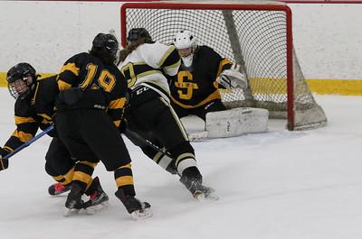 no.20, Ryan McCabe on goal. Point Pleasant Boro v/s Southern Regional high school hockey in Brick, NJ on11/30/18. [DANIELLA HEMINGHAUS | THE OCEAN STAR]